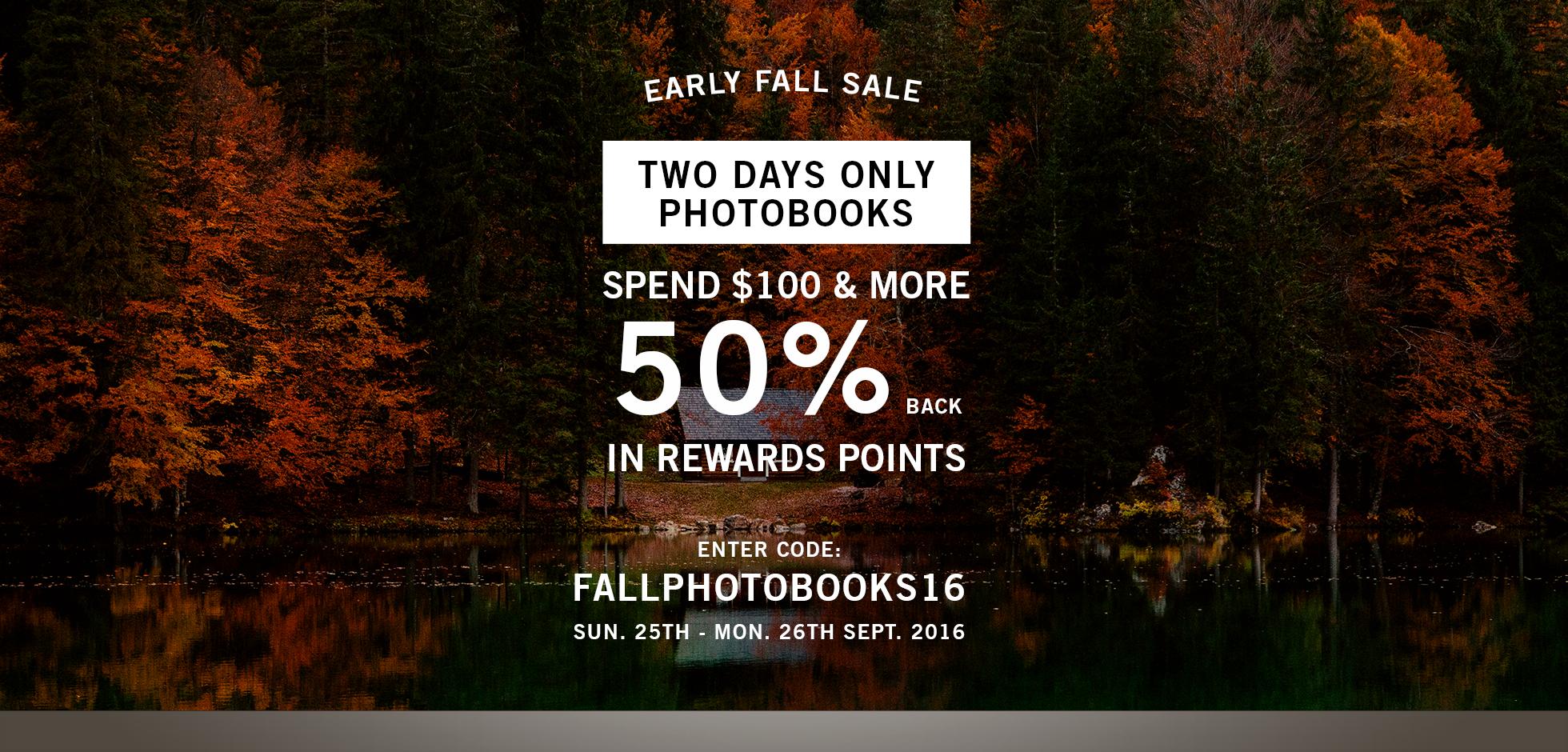 early fall photobook sale