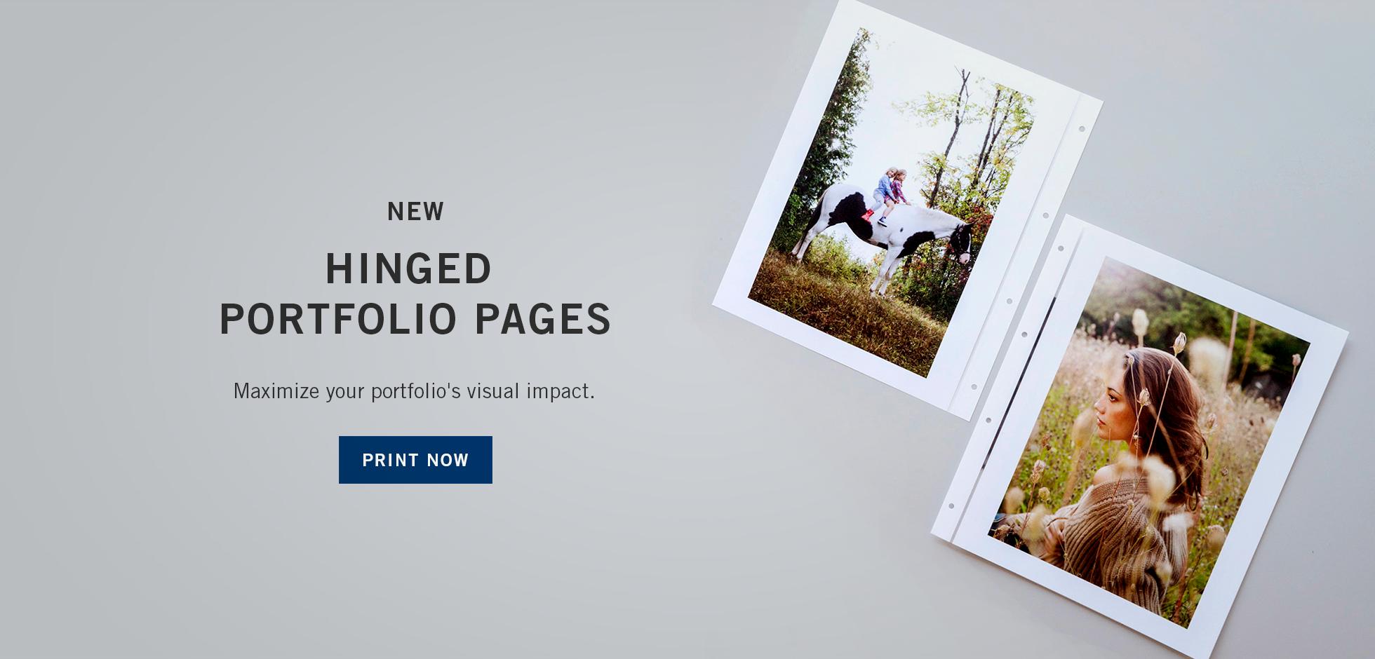 Hinged Portfolio Pages