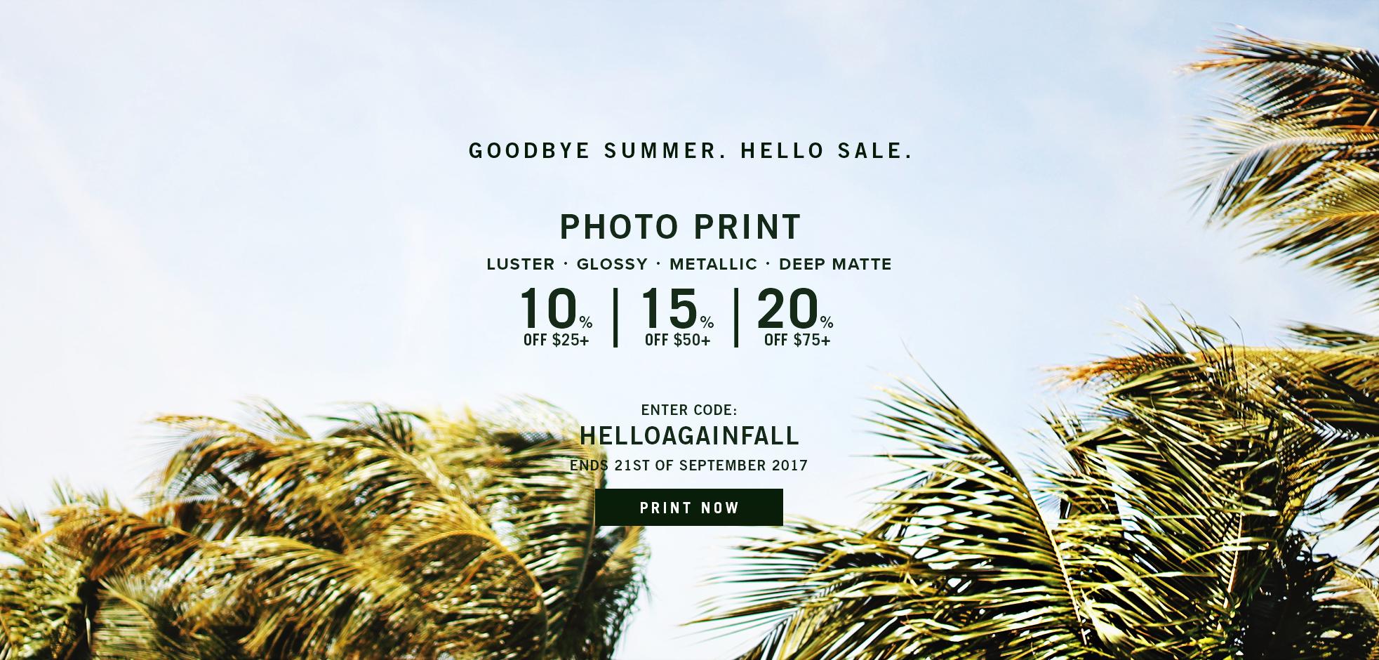 Photo Print sale