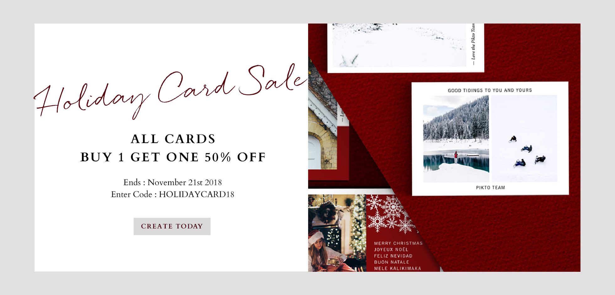 Holiday card sale 2018