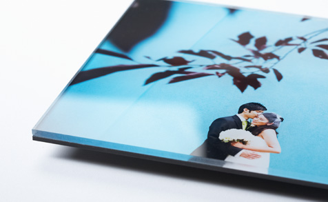 Plexiglass mounted photos